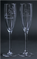Personalized champagne glasses